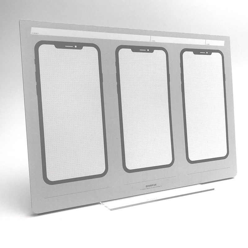 iteration mobile konzept zeichenblock für wireframes