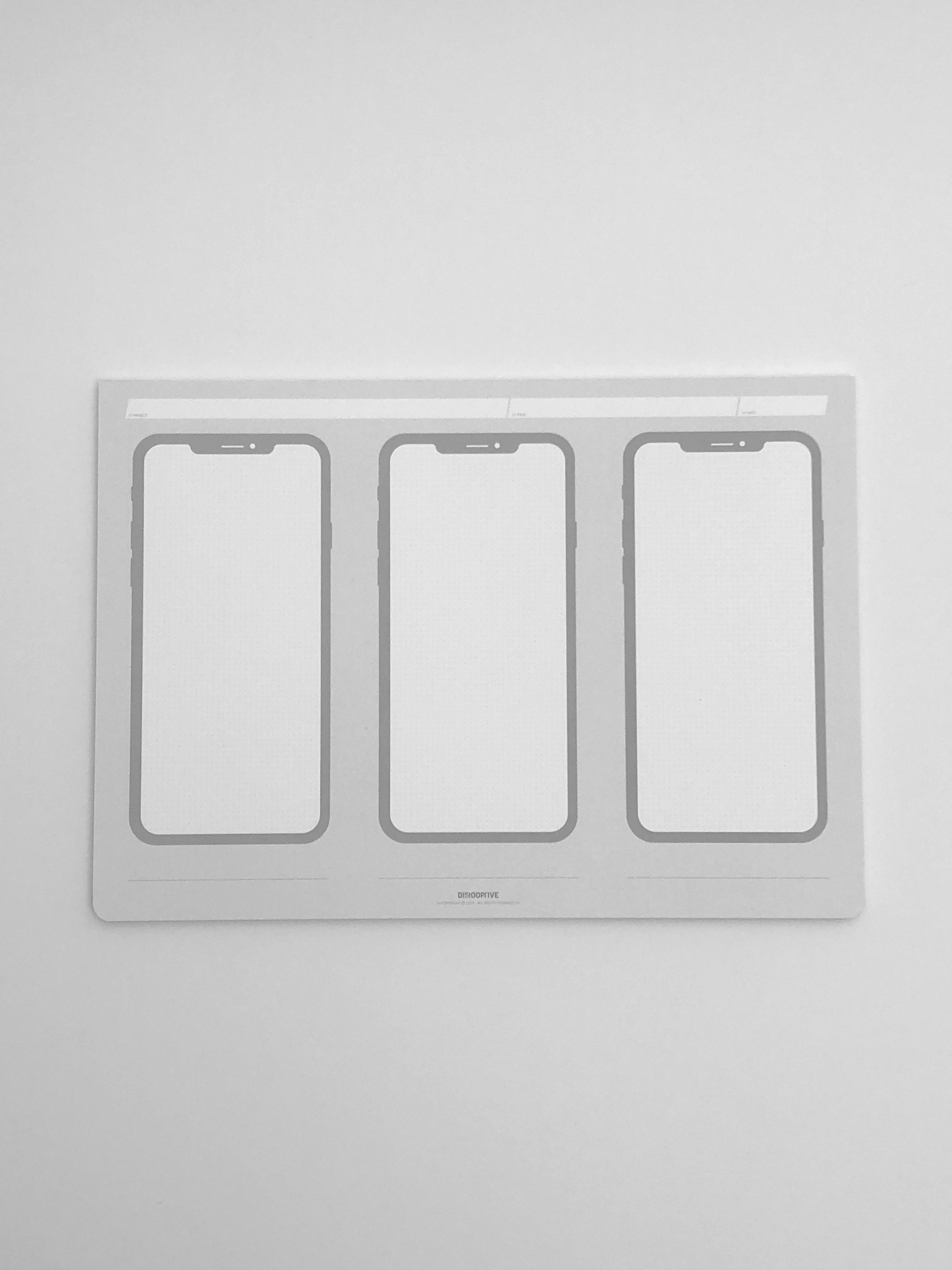 mobile concept scribble block zeichenblock